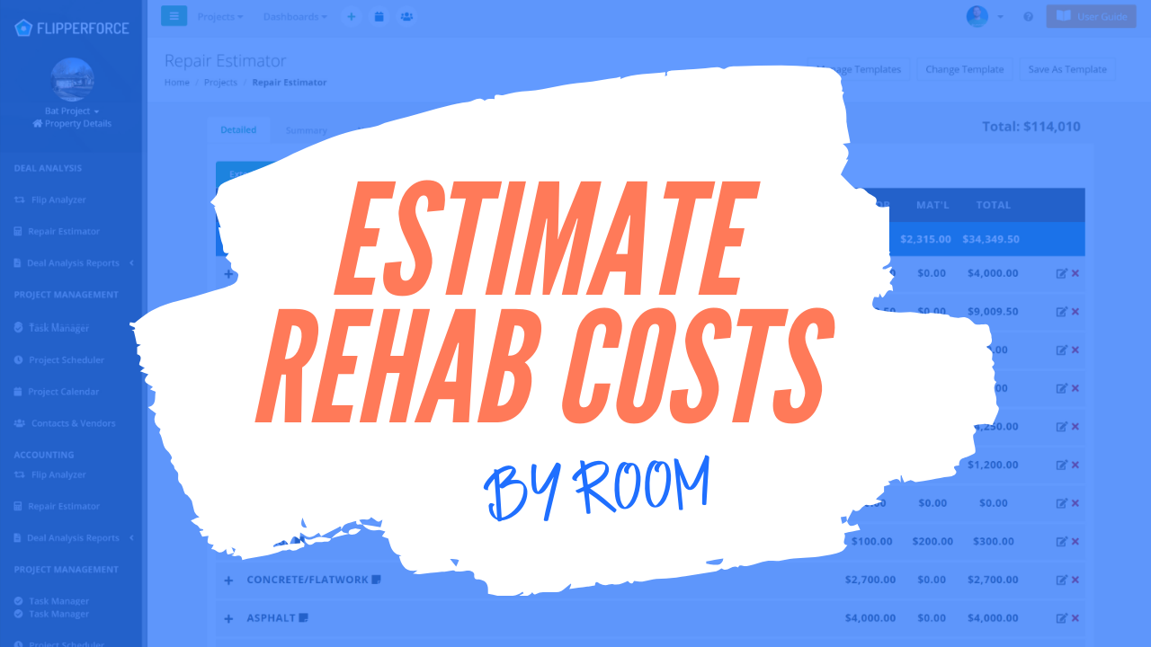 New Estimate by Rooms Feature