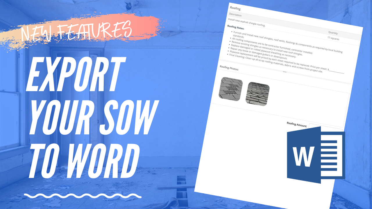 New Export SOW to Microsoft Word