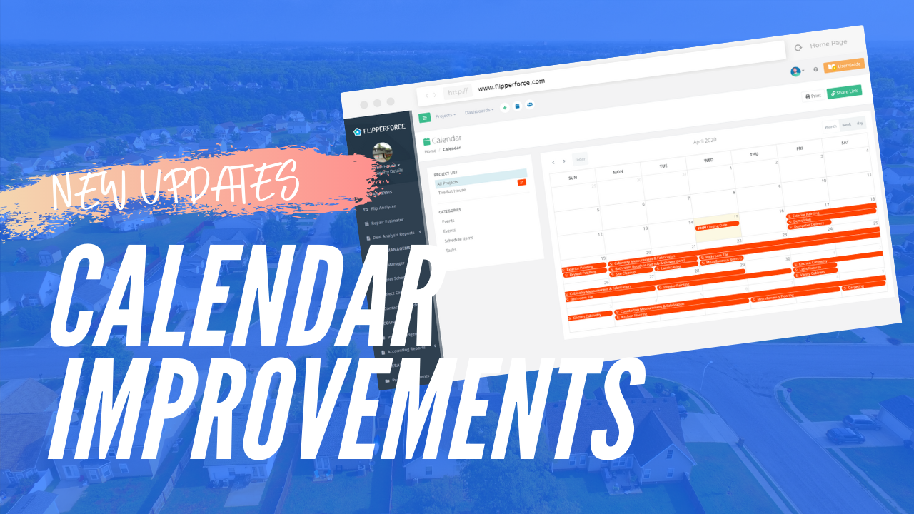 📅 New Calendar Events (& other improvements)
