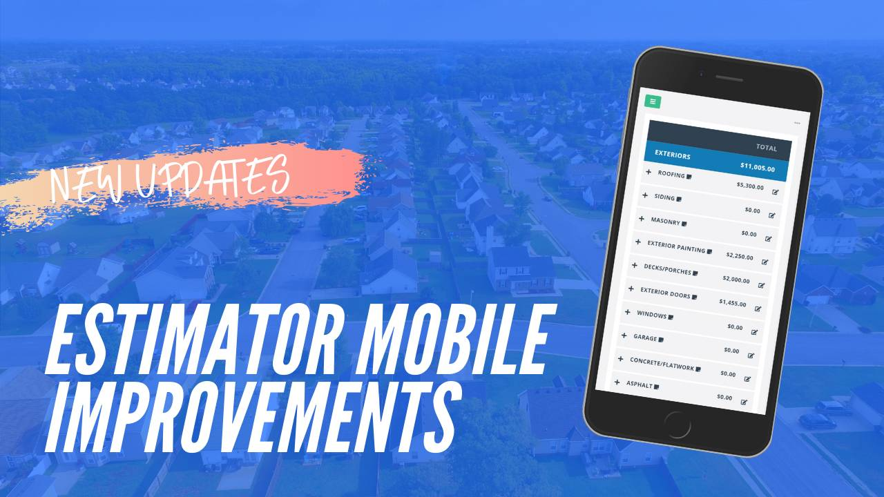 Rehab Estimator Mobile Improvements