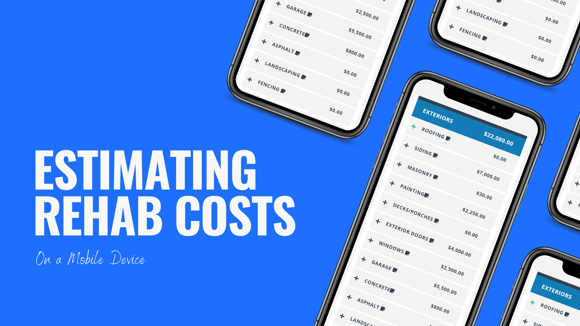 How to Estimate Rehab Costs on Your Phone
