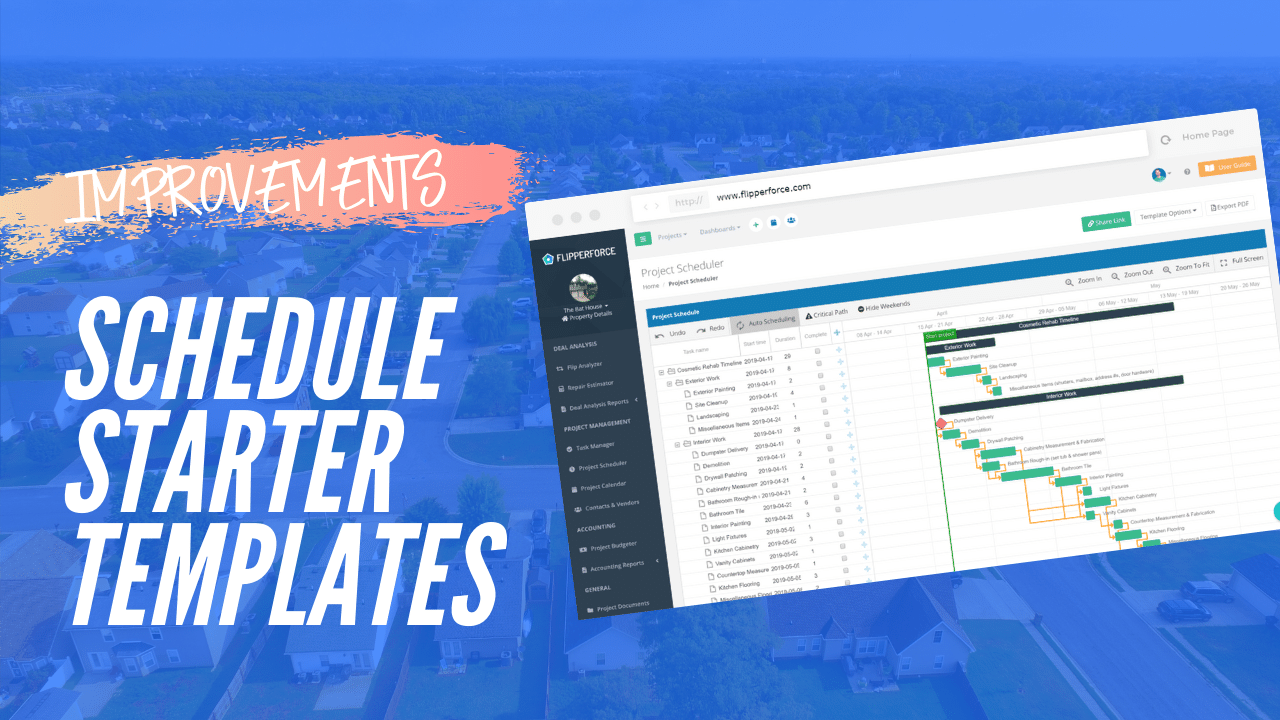 Schedule Template Loading Improvements!