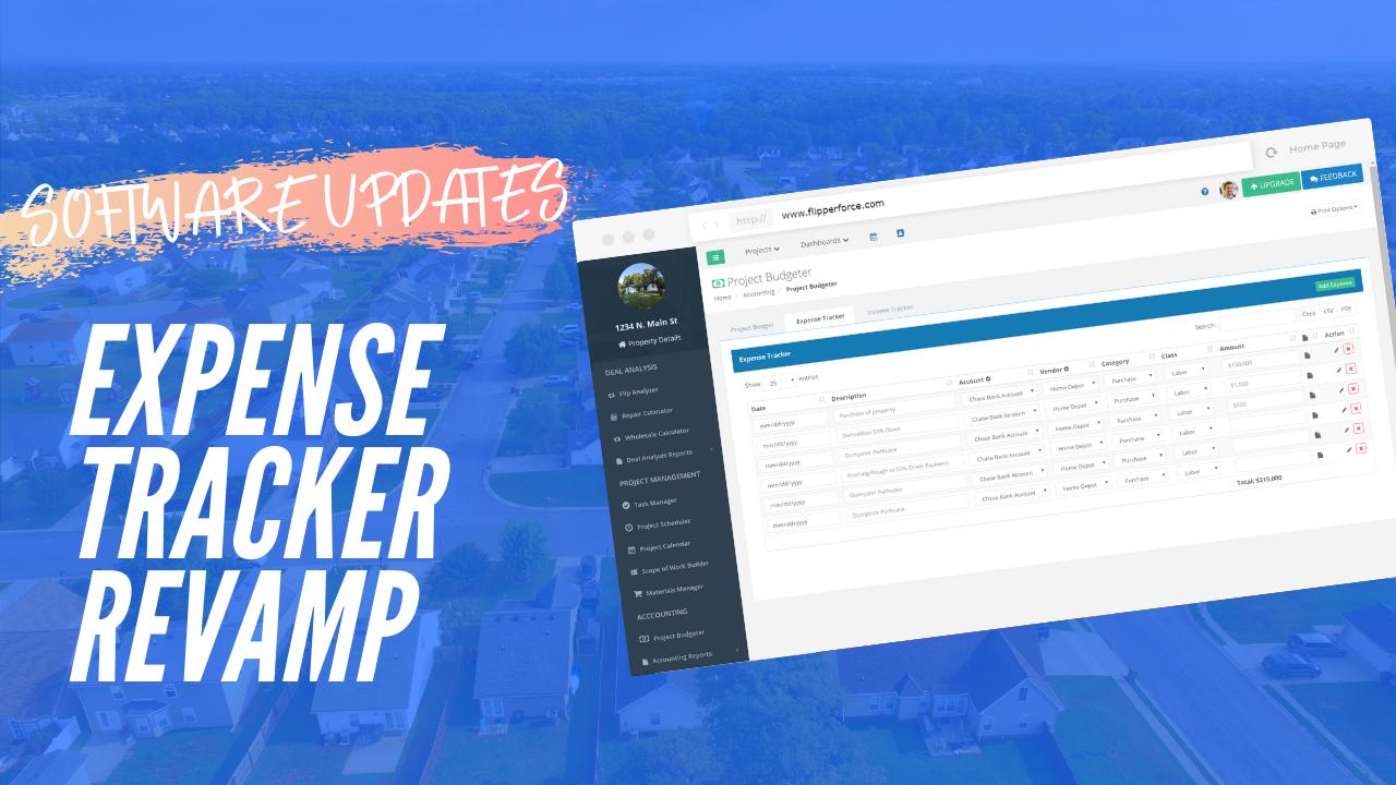 Expense Tracker Revamp!