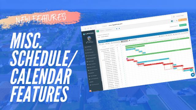 Misc. Scheduler/Calendar Improvements
