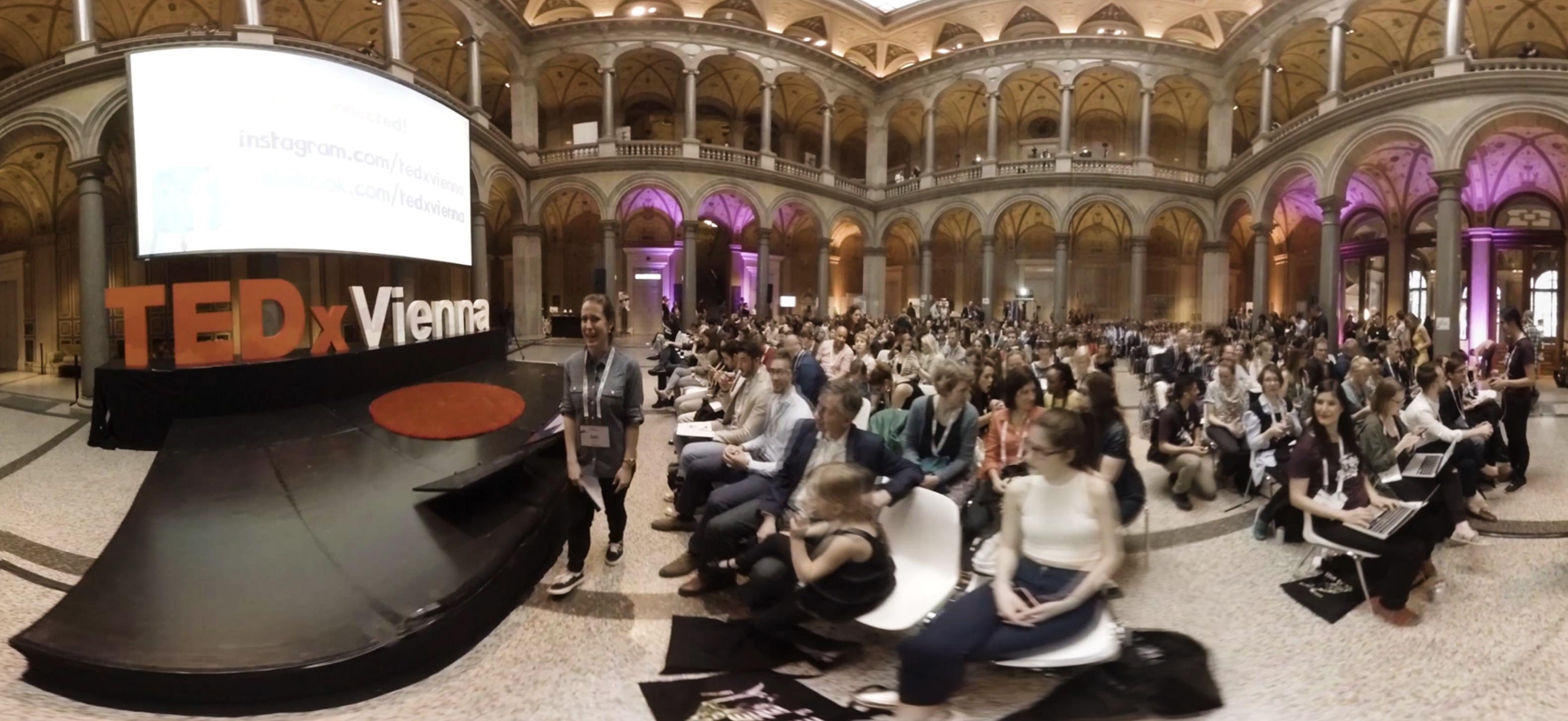 """Im Rahmen von TEDxVienna """"The Future of Intimacy"""" wurden zwei VR 360 Videos gedreht. So konnten TEDxVienna Fans überall live dabei sein!"""
