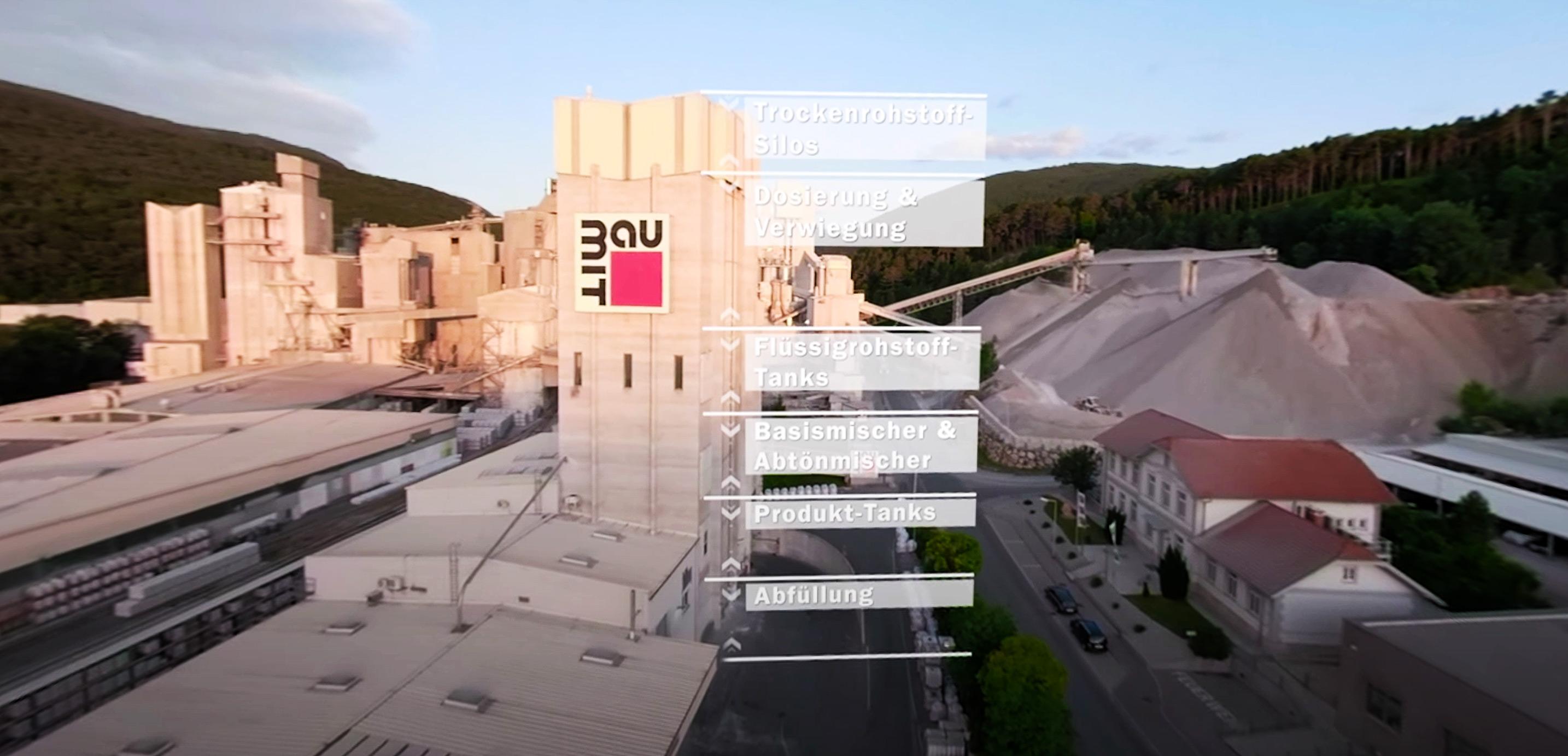 Baumit 360 video still frame from Baumit facilities in Austria