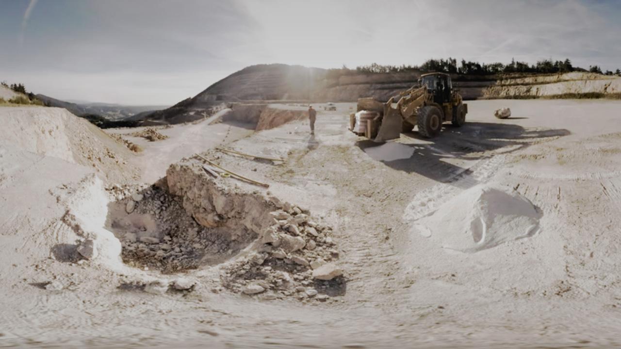 Die Rohstoffproduktion von Baumit im Kalksteinbruch Dürnbach
