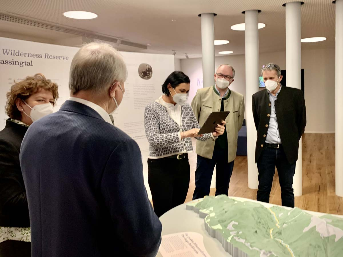 museum visitors testing an AR experience