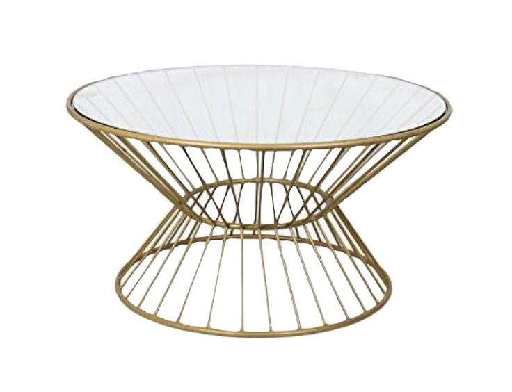 Gold Metal Wire Coffee Table