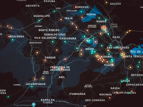 Mapa de calor - Rio de Janeiro