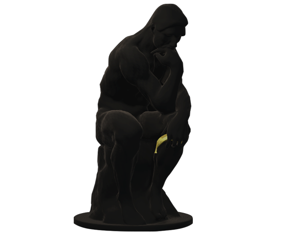thinker statue innovation strategy