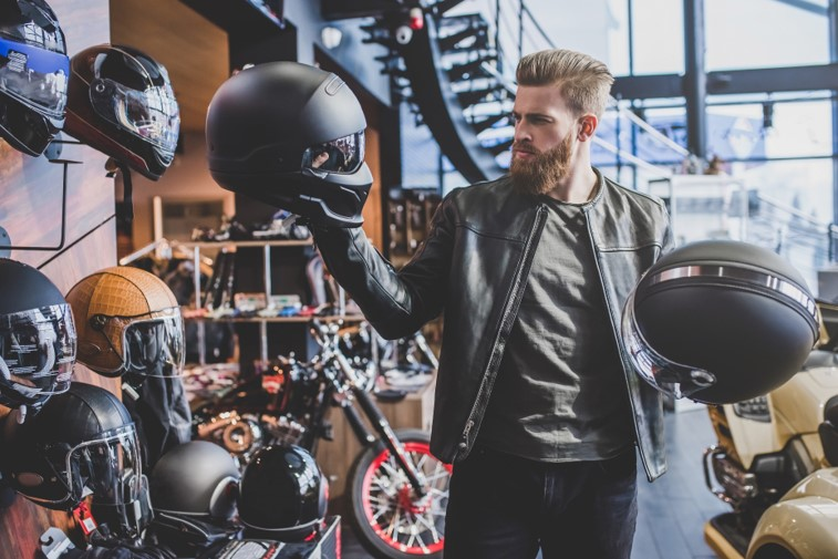Motorcycle helmet purchase consideration