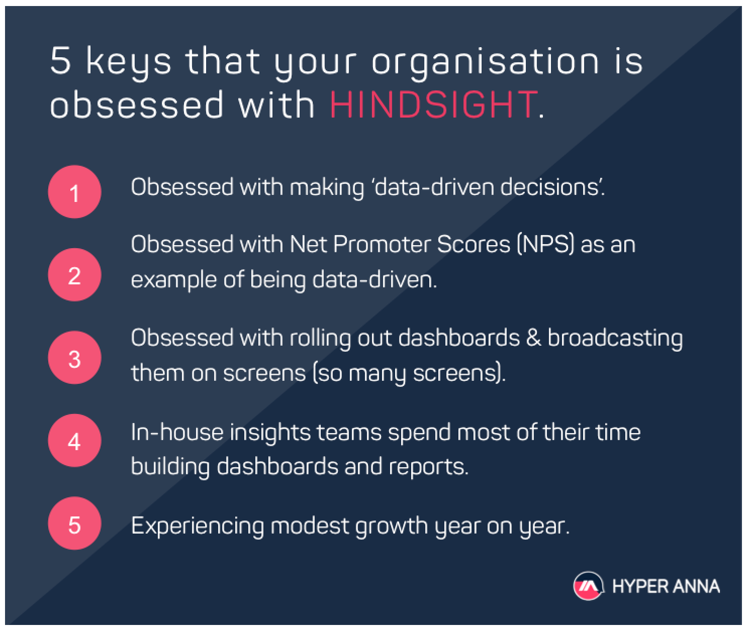 5-point checklist to measure your organisation performing with hindsight
