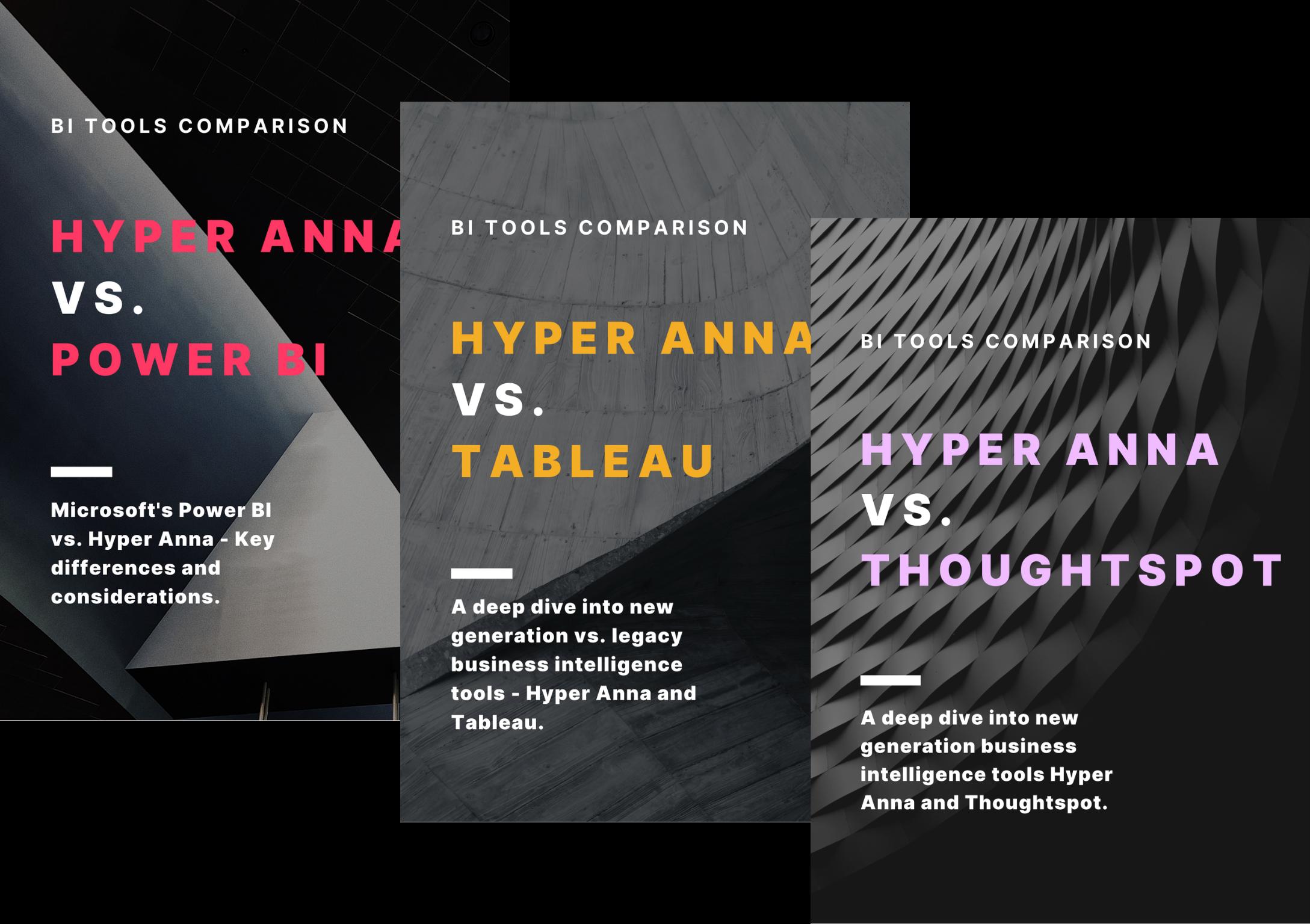 Hyper Anna vs. BI Tools