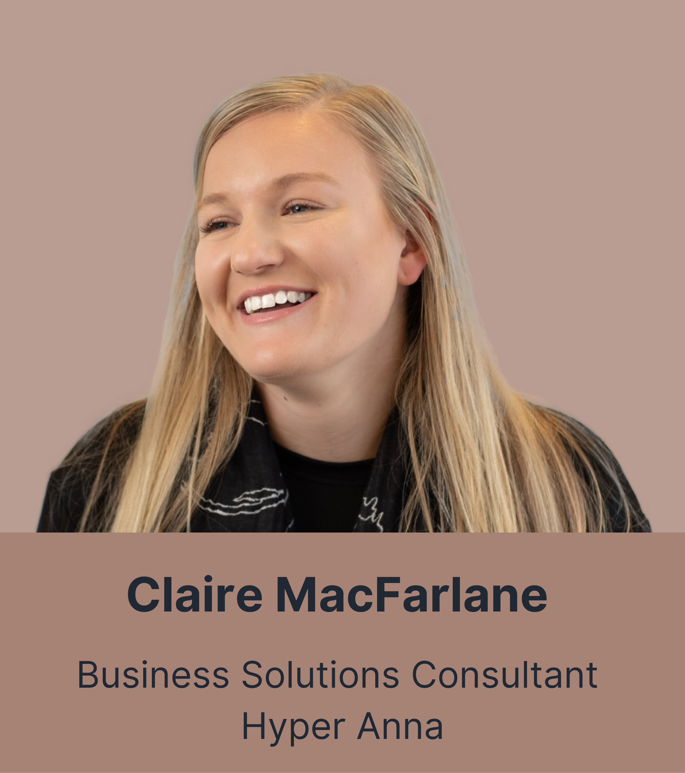 Claire MacFarlane - Business Solutions Consultant
