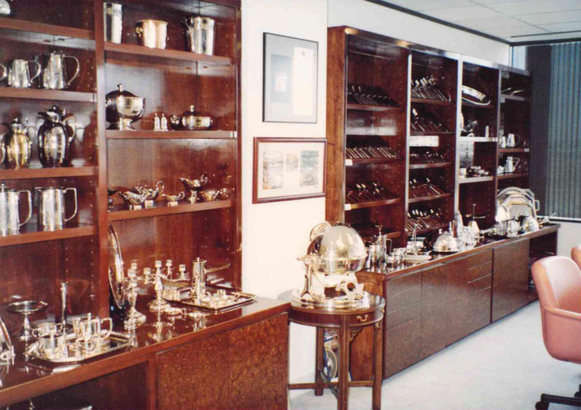 Sample wares at the head offices of Dahlgren Duck