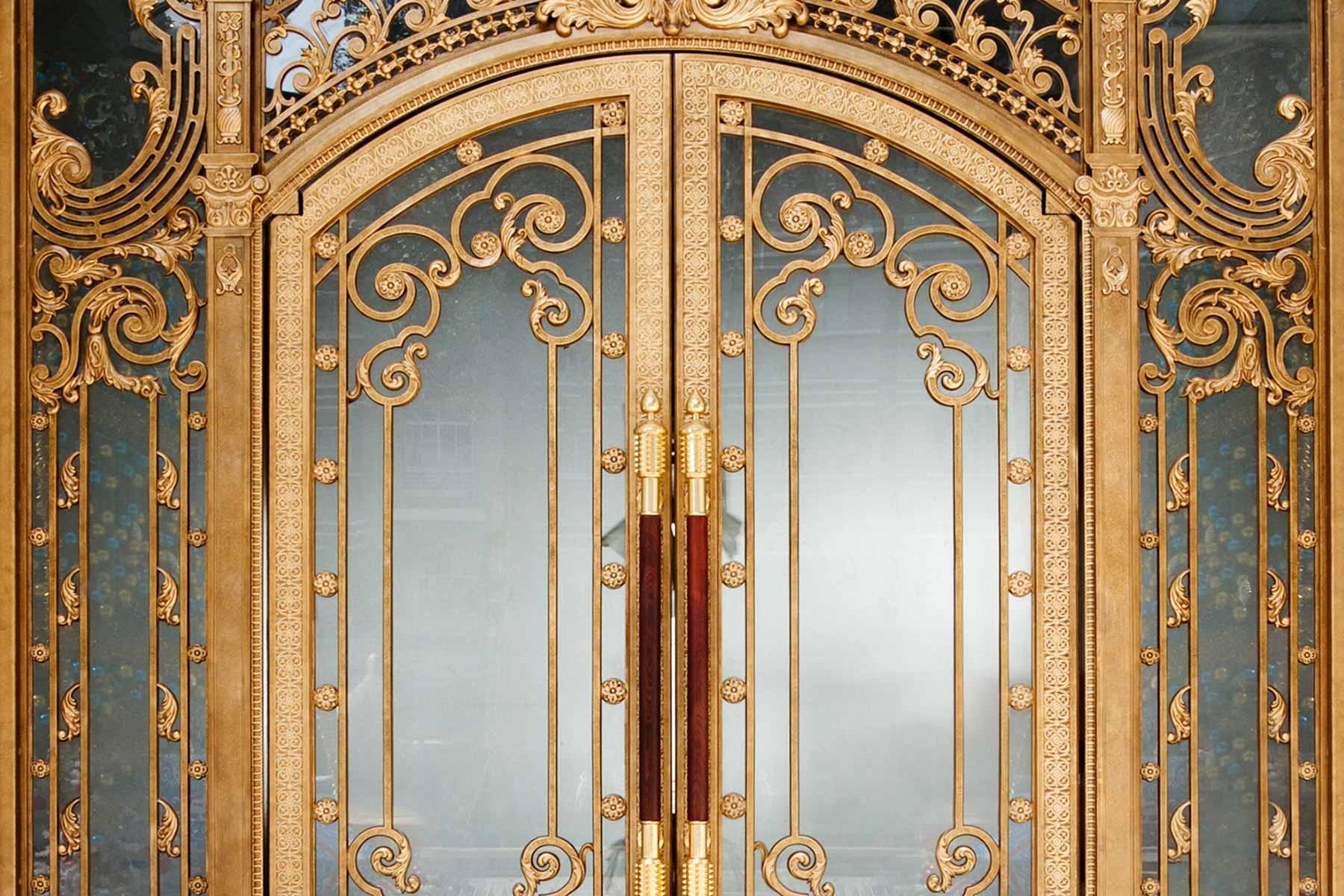custom crystal doors private luxury residence