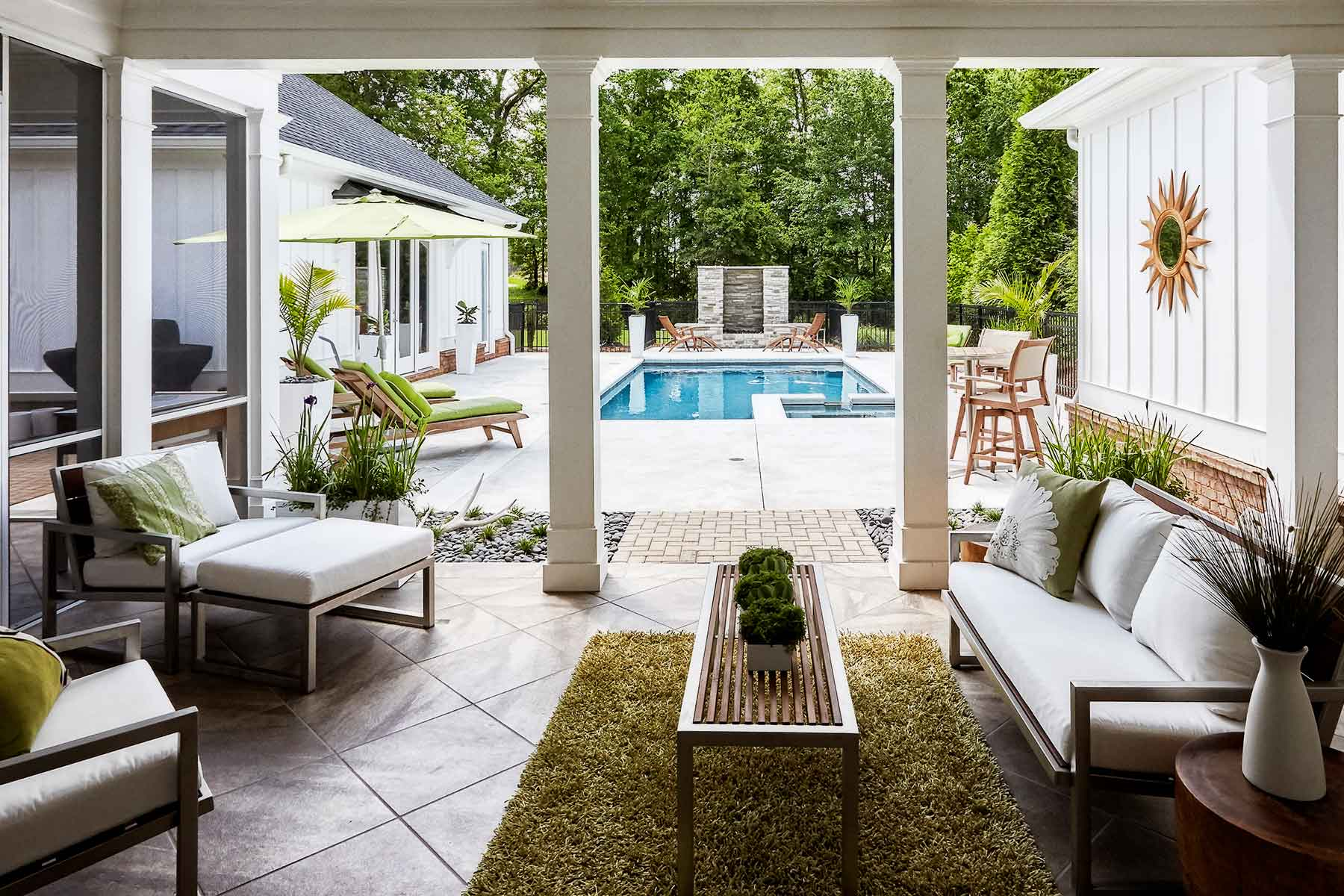 destination club home pool wooded veranda outdoors