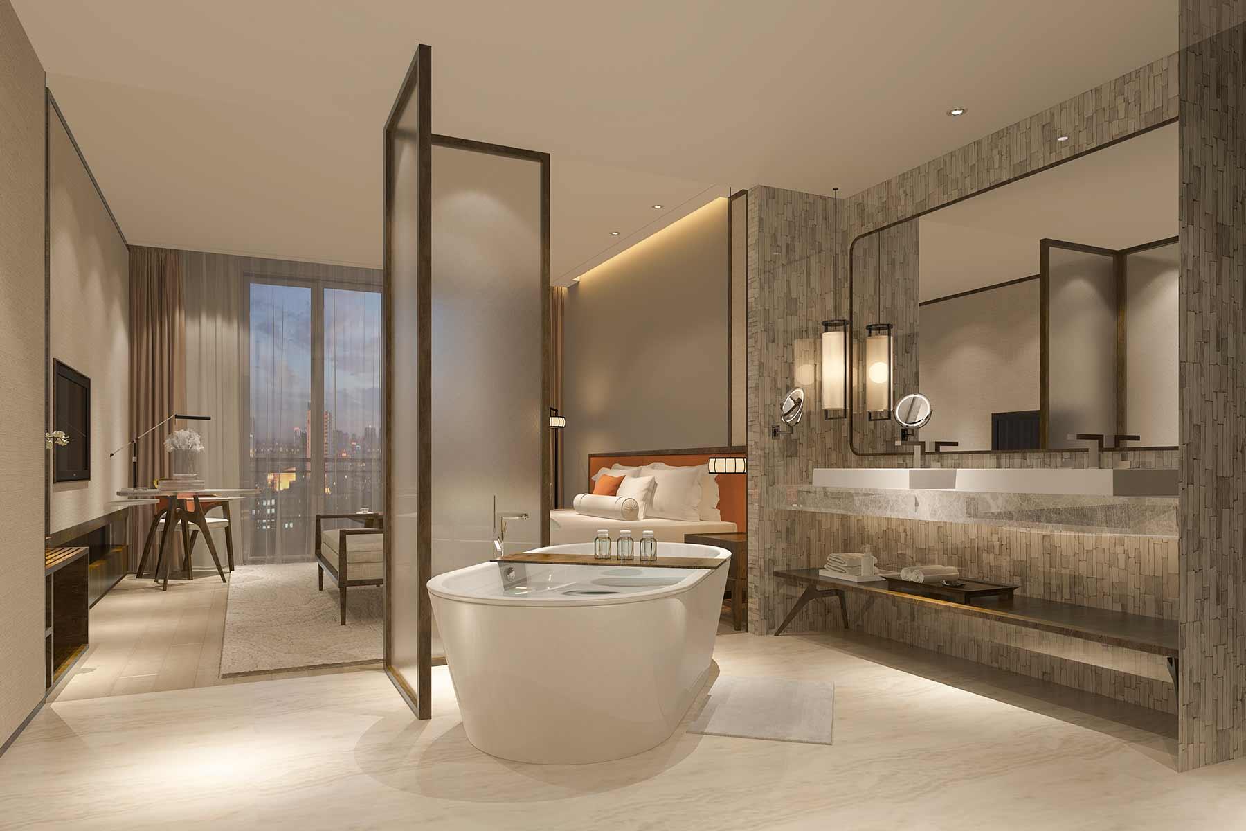 stunning luxury hotel bath escape respite replenishments linens luxe towels