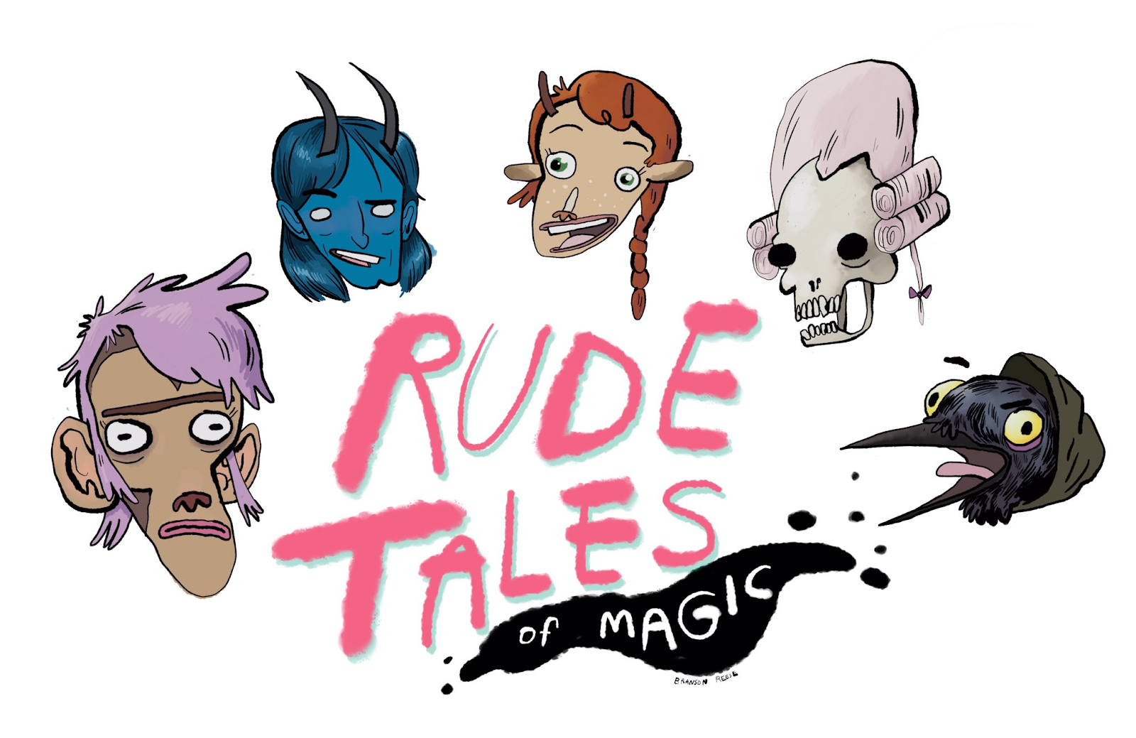"""Podcast artwork for """"Rude Tales of Magic"""""""