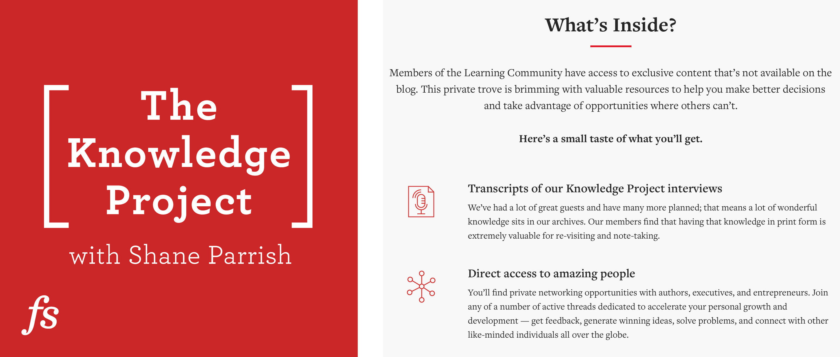 """Podcast Artwork from """"The Knowledge Project with Shane Parrish"""""""