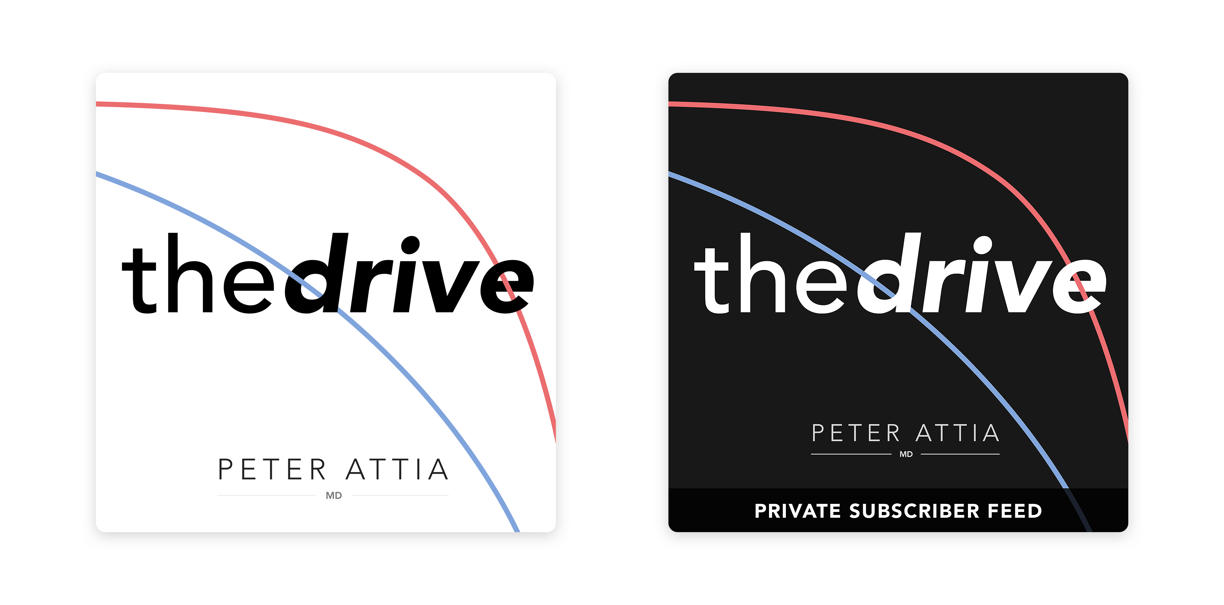 """Podcast Artwork for """"The Drive"""" podcast"""