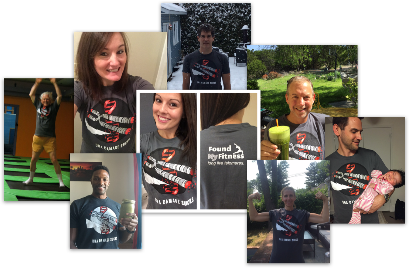 Collage of photos of FMF supporters