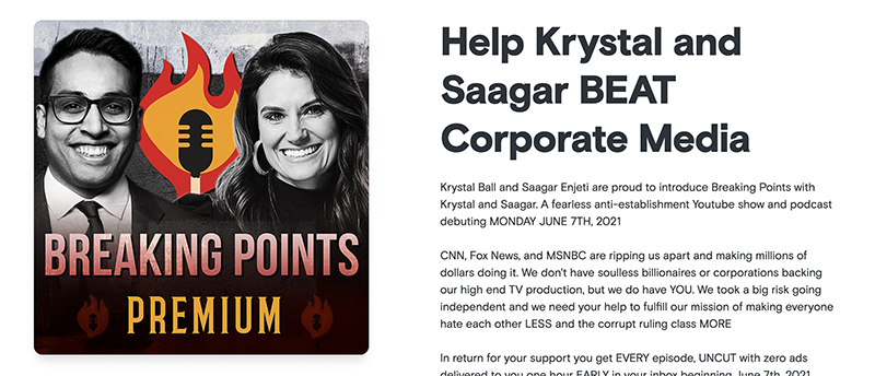 Breaking Points podcast mission listener support