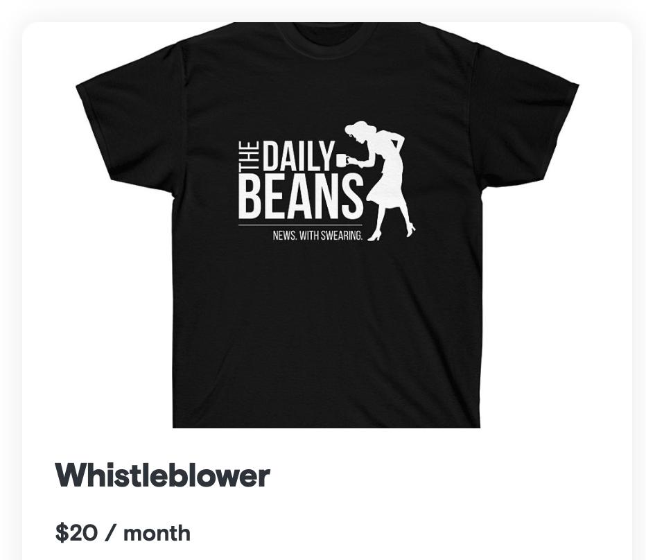 merchandise as a podcast subscriber bonus