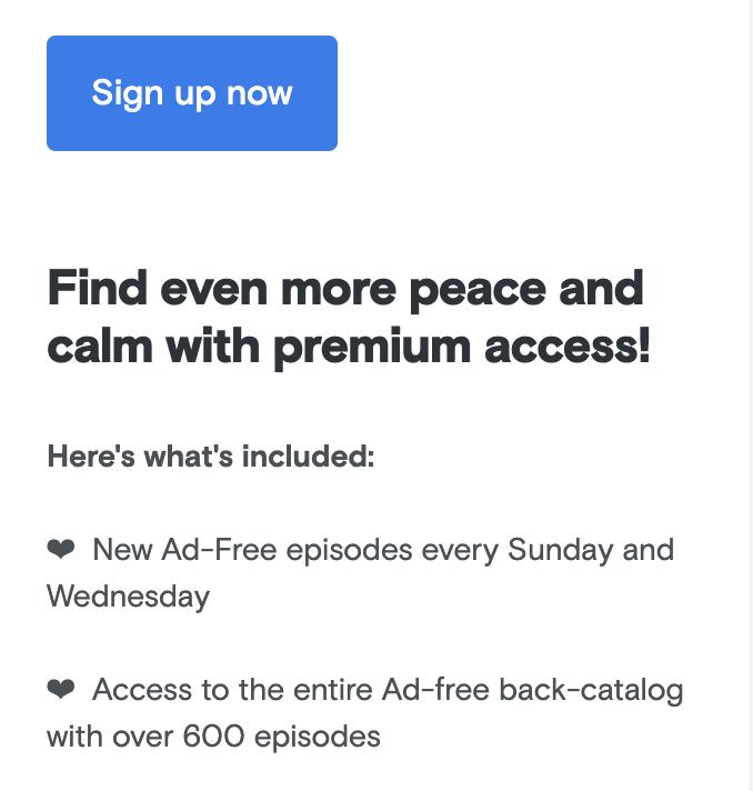back catalog as podcast subscriber bonus