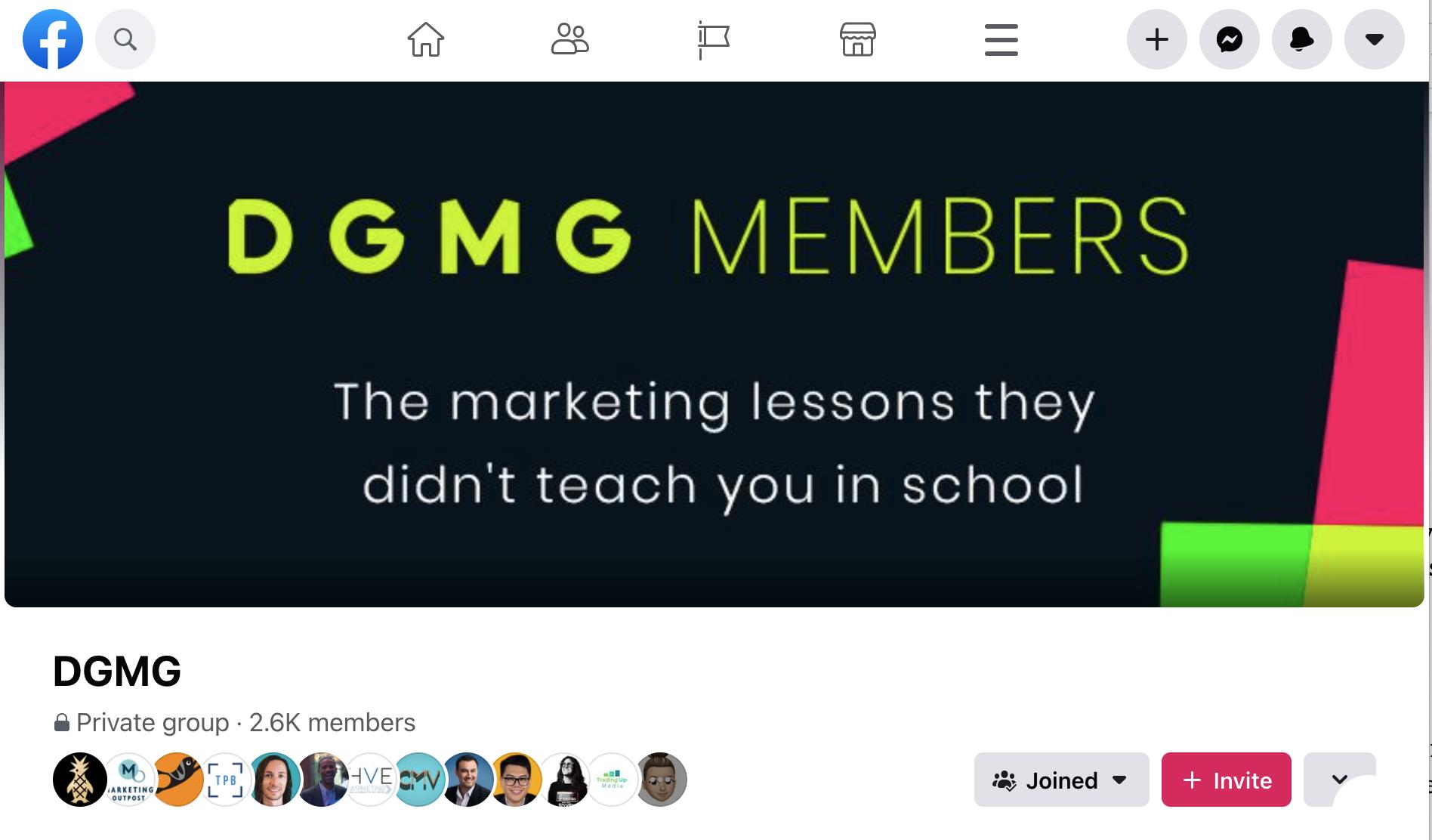 Private community through Facebook