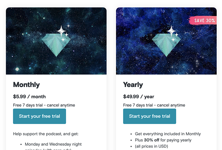 podcast subscription plans for Get Sleepy