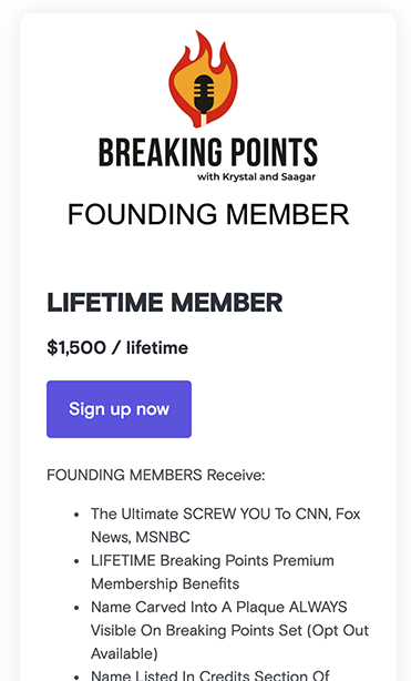lifetime podcast subscrpition plan for Breaking Points