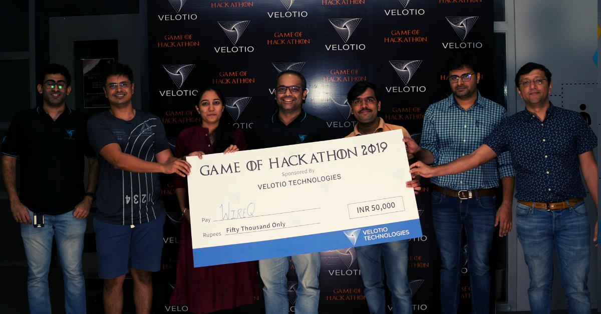 Velotio hackathon runner ups