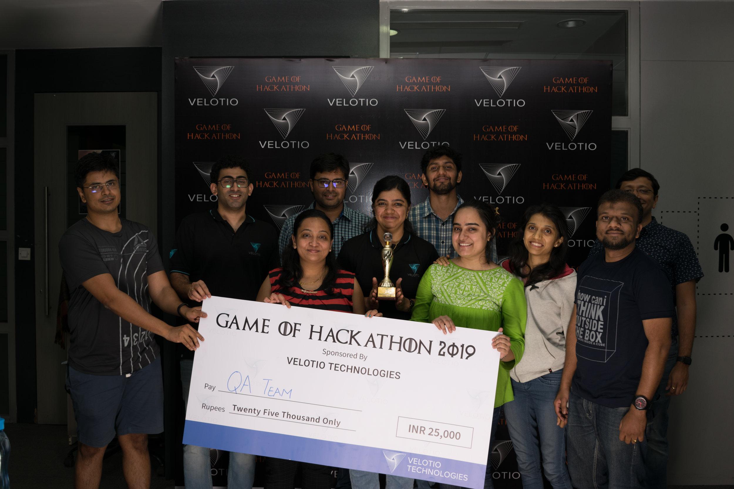 Velotio Hackathon third price