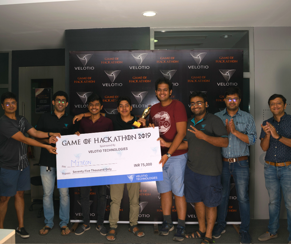 Velotio Hackathon Winners