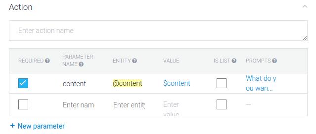 Content Parameter