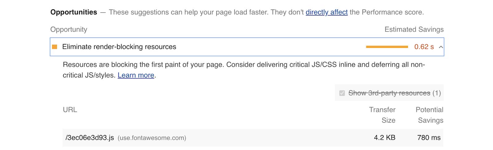 Google Lighthouse: Inlining Critical CSS