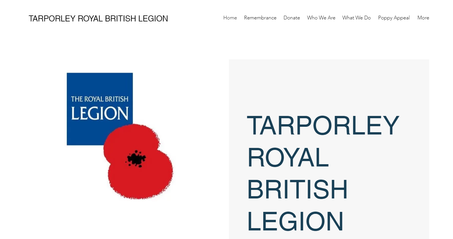 Tarporley RBL Home Page