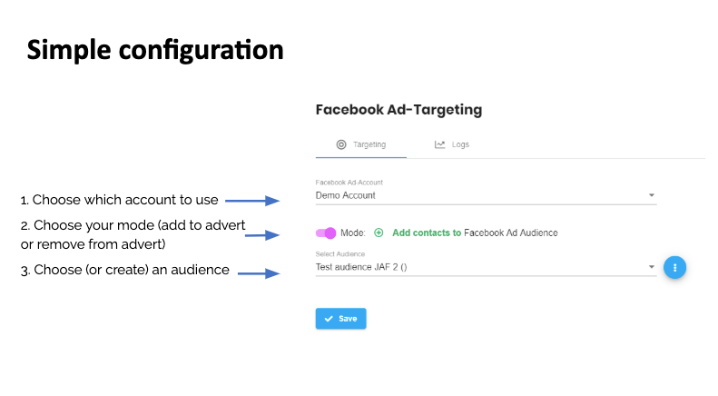 Instant.Marketing Facebook Ads Configuration
