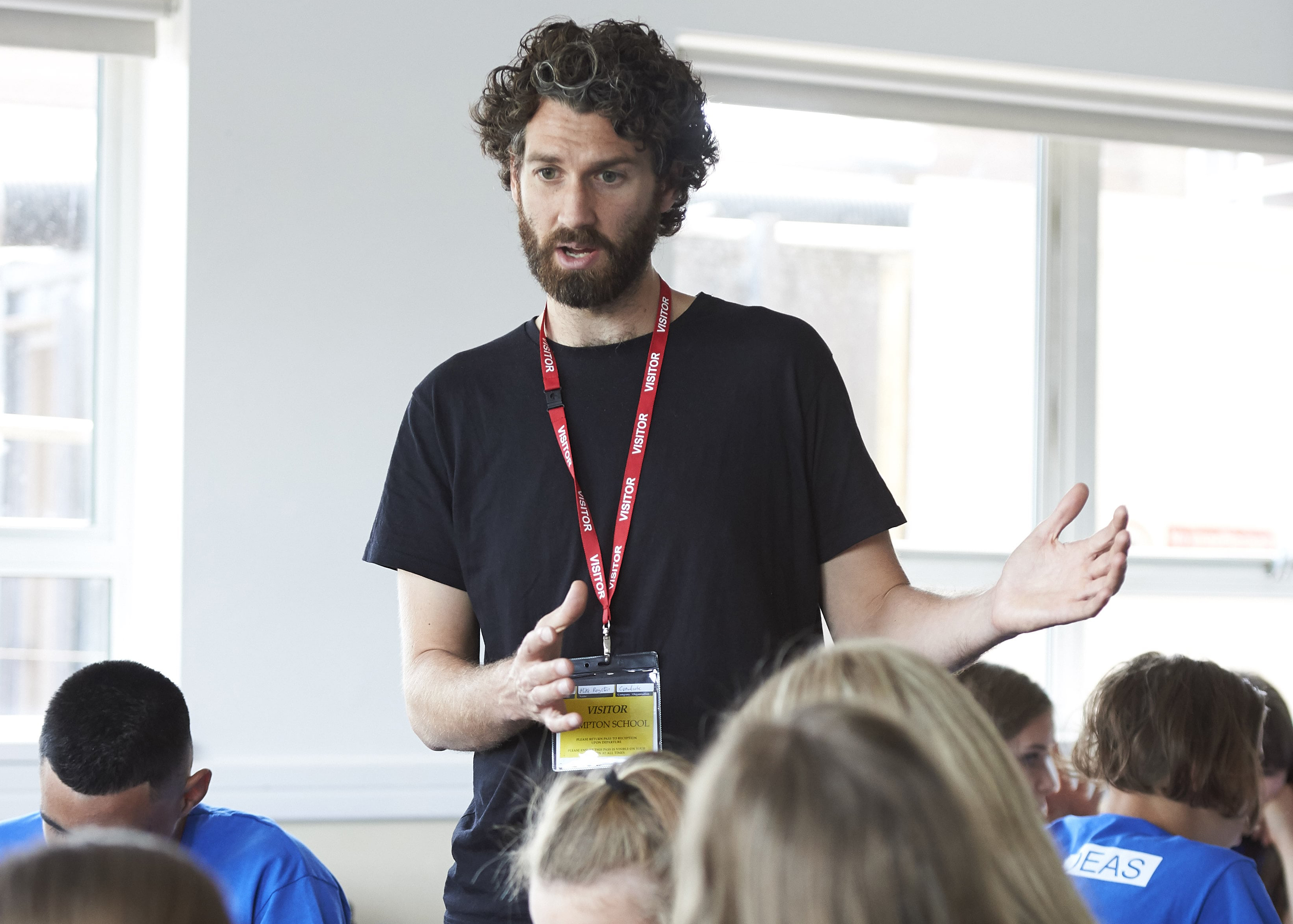 Mike Royston from Crowdcube talks to a group of students