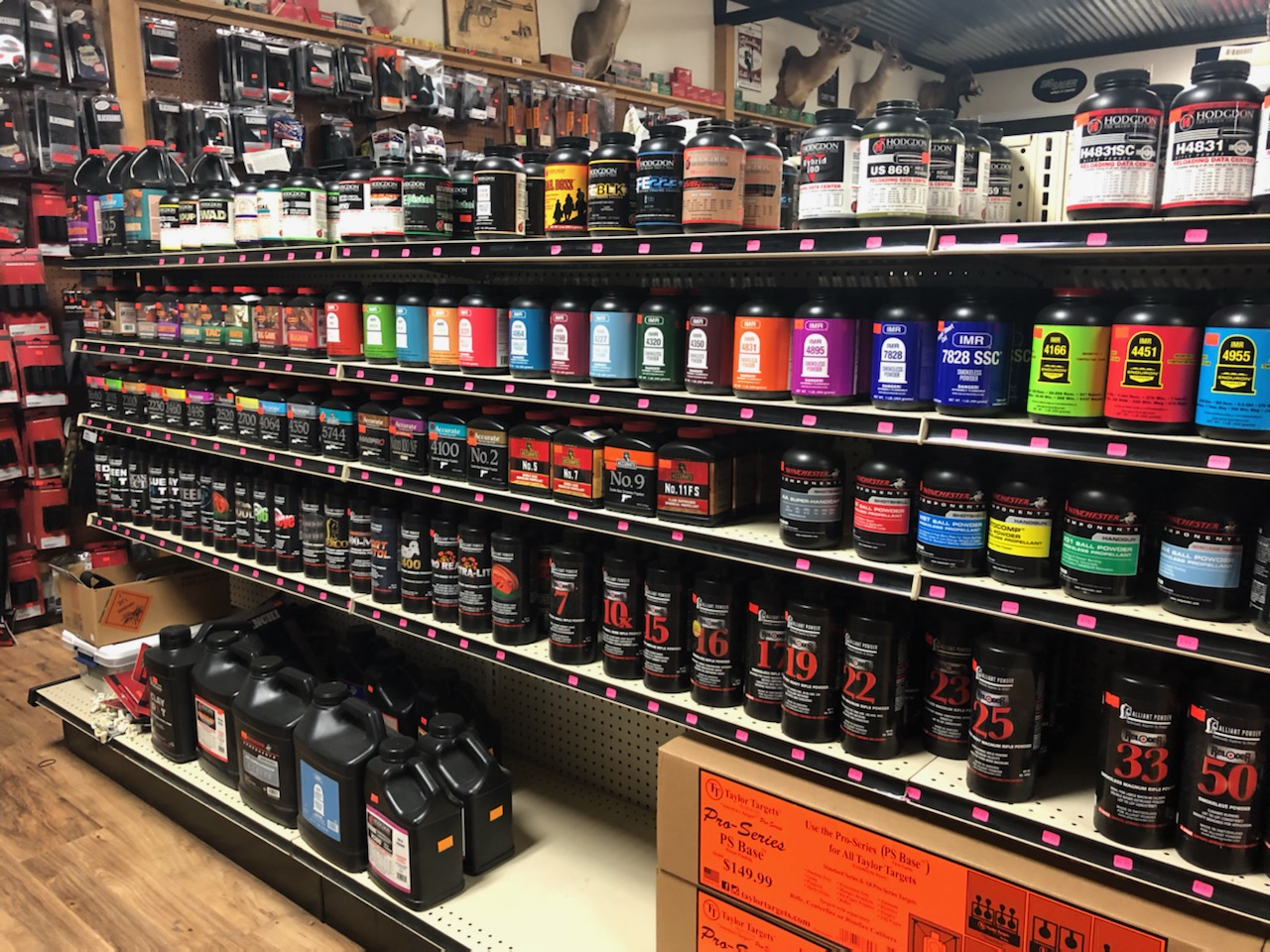 Wall of Reloading Supplies