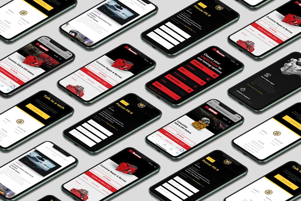 Dieselmatic mobile responsive websites