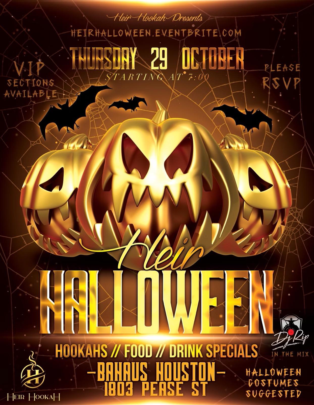 Heir Hookah Halloween Thursday