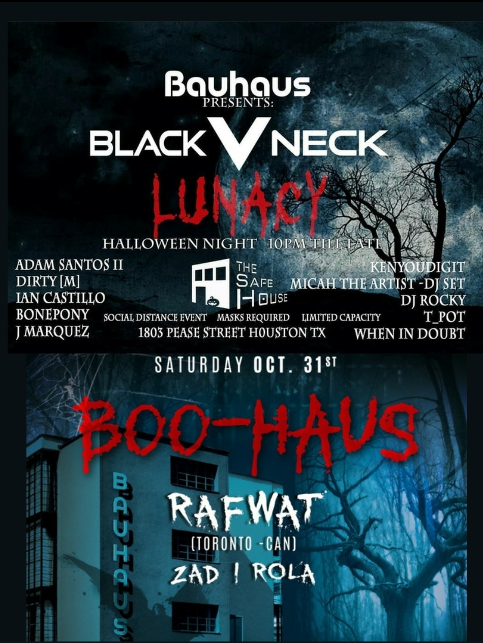 Bauhaus & Safe House Present Lunacy & Boo-haus Halloween