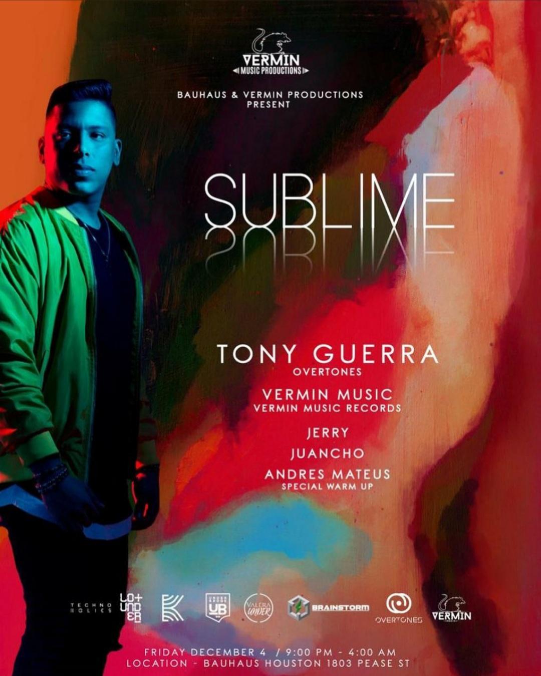 Bauhaus & Vermin Music Present: Tony Guerra