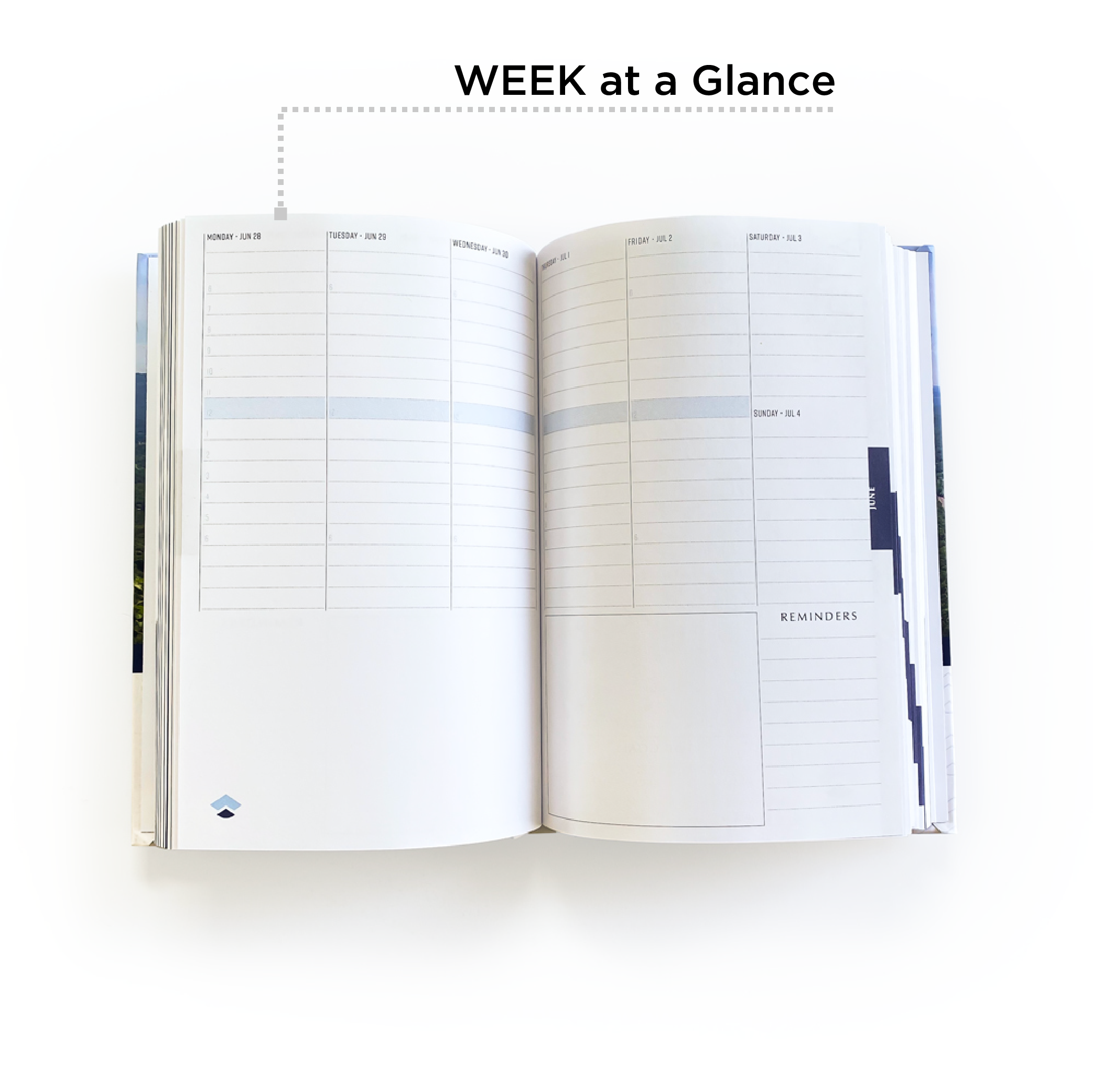 Week at a glance pages