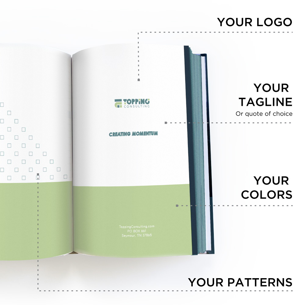 Customization for your logo, logo marks, colors, fonts, etc