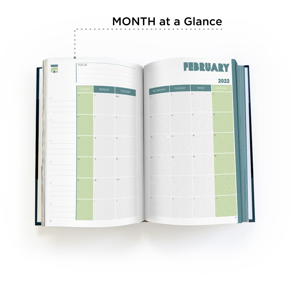 Week at a glance Planner pages