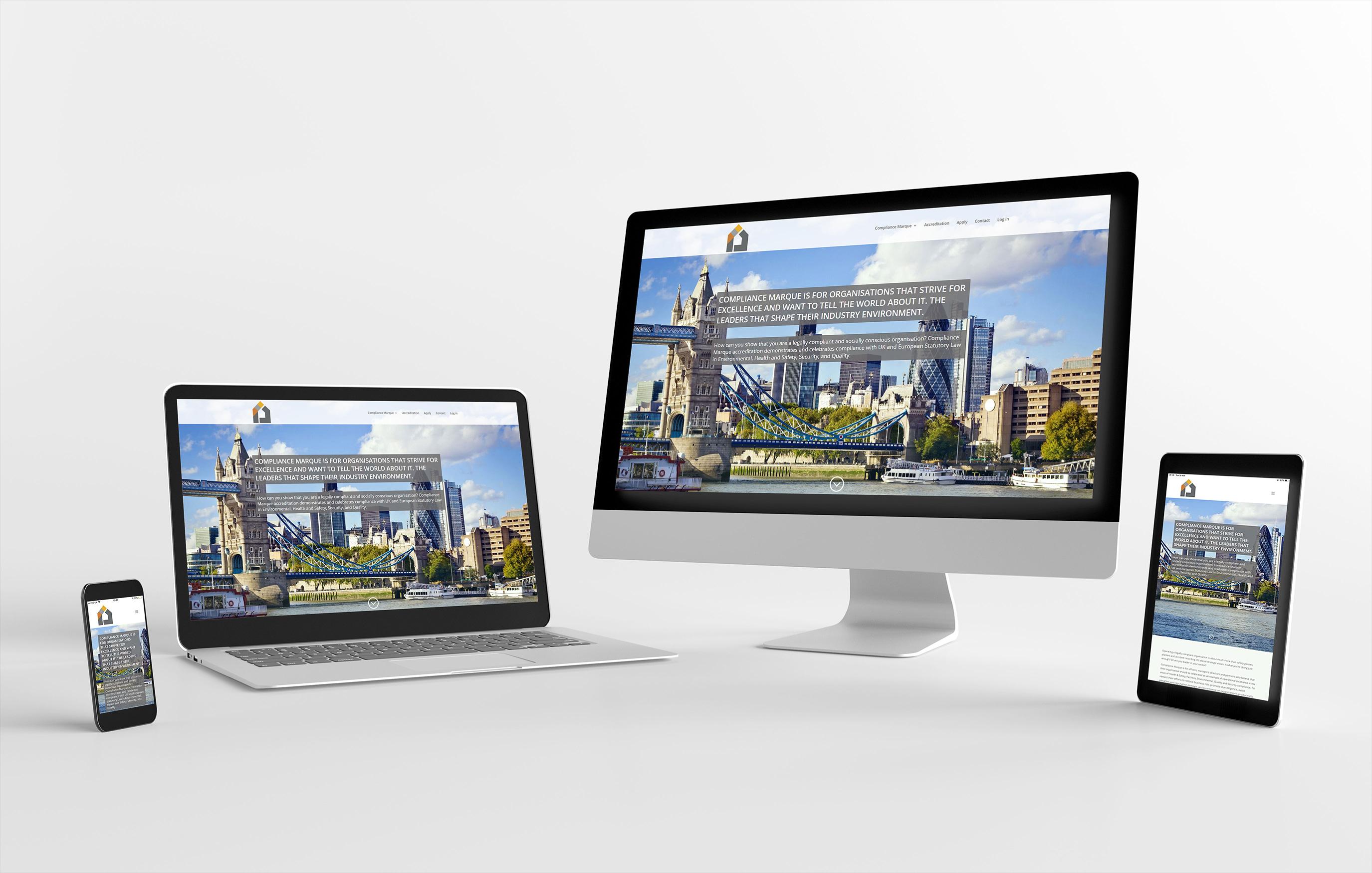 Website design example - Compliance Marque